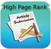 do Article Submission on high page rank  websites