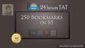 build 250 social Bookmarks in 24 hr
