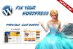 help or fix your WordPress problem