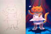 artistically color your kids drawing and doodles