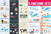 give you huge infographic pack PSD templates