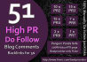do Manually 51 blog comments high pr BACKLINKS