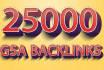 create 25000 GSA Ser backlinks for Google ranking