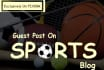 do Guest Post on  Sports Blog PR3