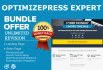 complete any OPTIMIZEPRESS Project