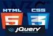 fix website html, css, javascript, jquery