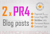 create 2 PR4 Dofollow Blog Post Guest Post backinks