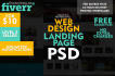 design a Photoshop Web Design, Web Template, Landing Page
