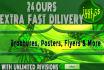 design FLYER , Brochure in 24 Hr