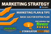 write awesome Marketing STRATEGY