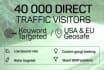 invite 40 000 DIRECT traffic visitors