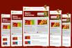 design MailChimp, Aweber, GetResponse Template