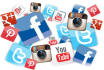 set up 3 Social Media accounts for your business