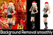 remove your 3 photos Background Smoothly