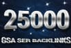 create 25000 gsa ser  Google Friendly backlinks
