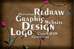 redraw any logo and image into vector