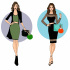 illustrate fashion figurines with my style