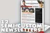 deliver 12 months of real estate Newsletters