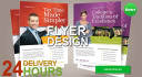 design a professional Flyer, Poster and Bochure