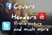 create custom facebook cover with a matching profile picture
