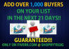 show How To Add 1K HighQuality Laser Targeted BUYERS To Your List In 21 Days