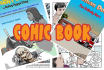 draw you a comic book for commercial use