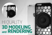 create 3d model and HQ render