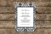 customize this elegant damask wedding invite