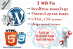 fix wordpress error, html css issues and customize theme