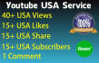 add REAL Youtube video views, likes, subscribers and comment