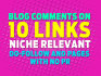 provide you 10 Dofollow Blog Comment Niche Relevant Pages