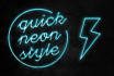 photoshop your text with detailed neon effects