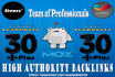 do Moz Seo 50 Backlinks on High P A and D A 30 Plus Permanent