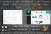 create custom cms website and convert wordpressTo custom cms
