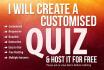 create a Customized quiz