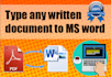 do any typing job on MS Word for you