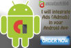 integrate Admob Ads in your Android App