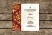 customize this red and gold wedding invite