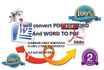 totally CONVERT pdf to word doc and word doc to pdf