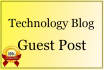 publish Guest Post on Technology Blog