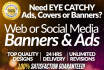 design a CAPTIVATING Banner, Ad, Cover in 24 hours