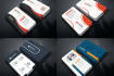 design business card and create 3 realistic mockups