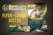 do flyer and cover fb for sports