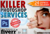 do professional PHOTOSHOP work within 24 hours