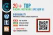 create 20 high pr contextual SEO backlinks from top social network websites