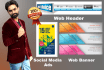 do professional web Banners, Headers, Social Media Ads