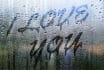 write your Message on a rainy window