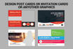design post cards, credit card or membership card