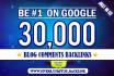 build 30,000 GSA blog comments backlinks for Google ranking