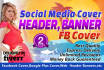 create a PROFESSIONAL web banner header social media cover
